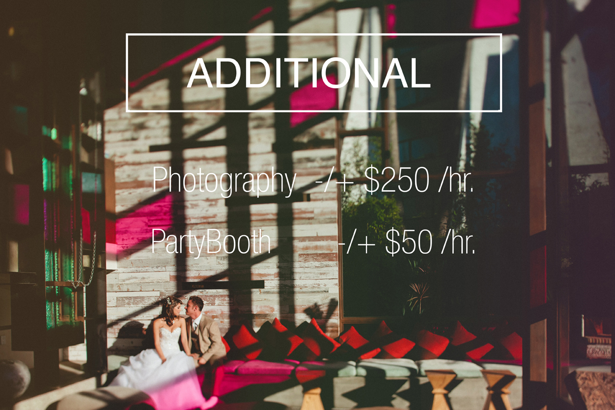 temecula wedding photography pricing add on