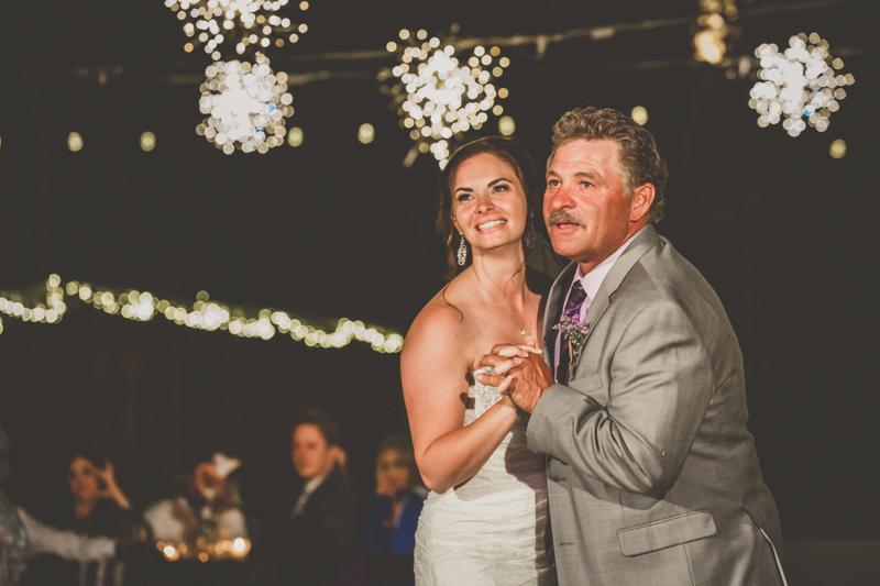 living desert wedding father daughter dance