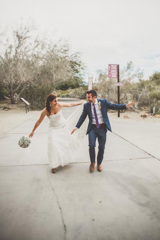 living desert wedding photos