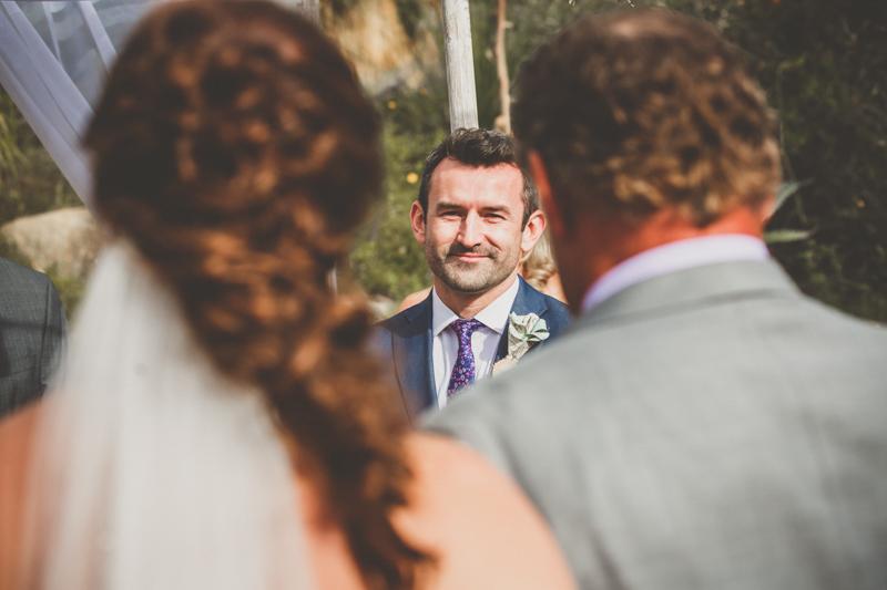 living desert wedding bridal partyphotos