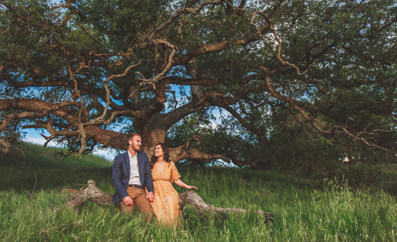 temecula field engagement photos