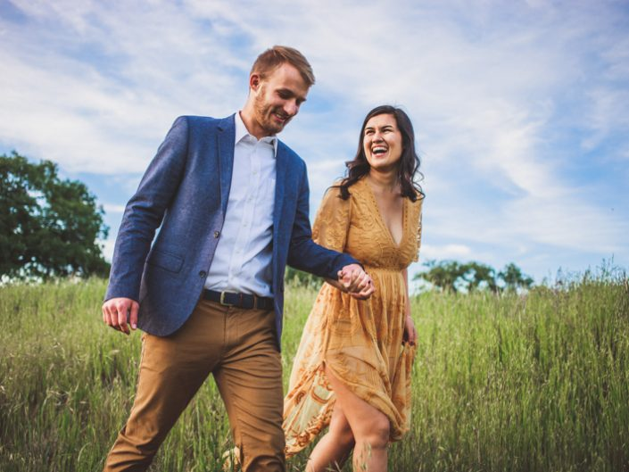 Temecula Engagement Photography - Bikes and a Field